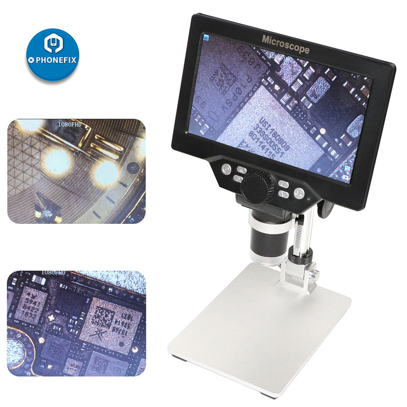 MUSTOOL G1200 1200X Digital Microscope with 7 inch Color LCD Display