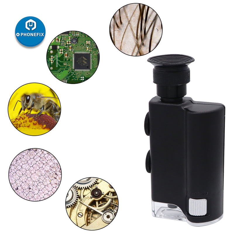 Carson MicroBrite Plus LED Lighted 60X-240X Pocket Microscope