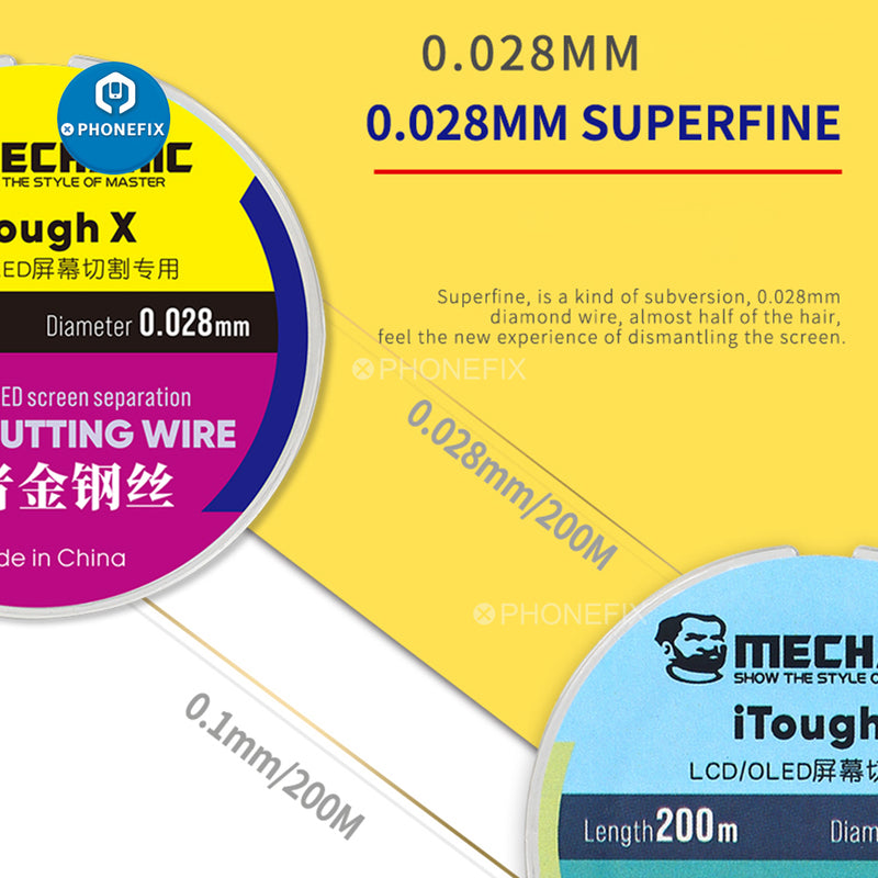 Mechanic iTough X Tough Superfine Cutting Wire For LCD OLED Screen
