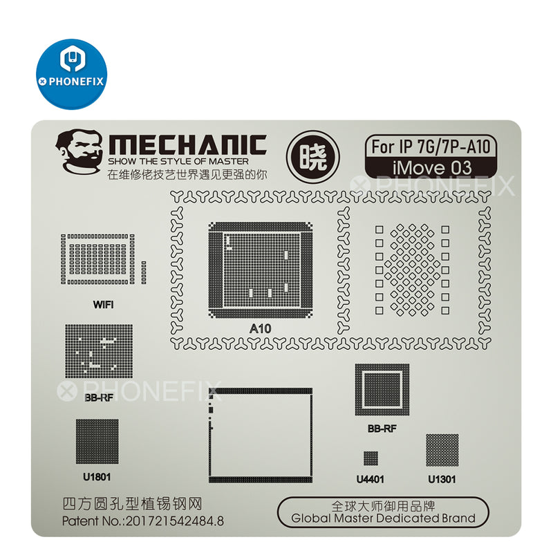 Mechanic iMOVE Series Steel BGA Stencil Template for iPhone 6 7 8 11