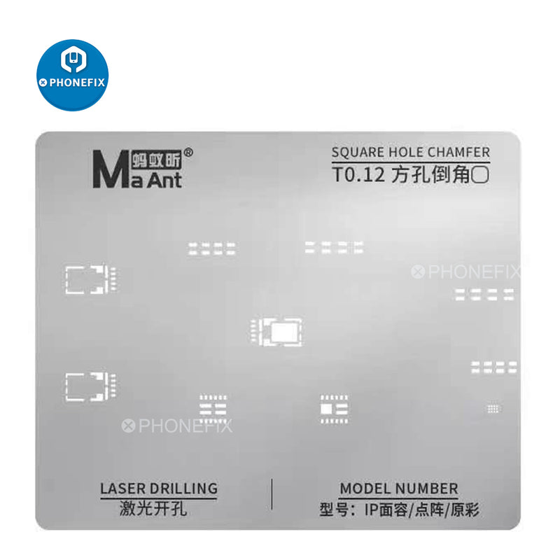 MaAnt Dot Matrix Face ID Reballing Template Planting Tin Steel Mesh