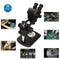 Black Simul Focal Binocular Stereo Big Table Stand Microscope Head