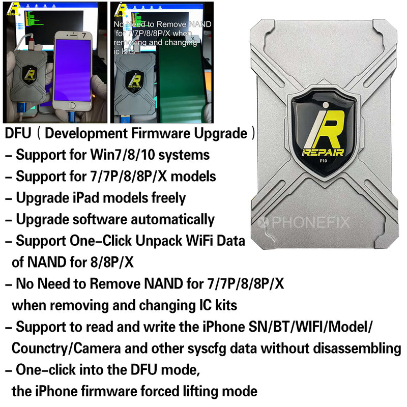 iRepair P10 DFU Box Nand Non-Removal Programmer for iPhone iPad