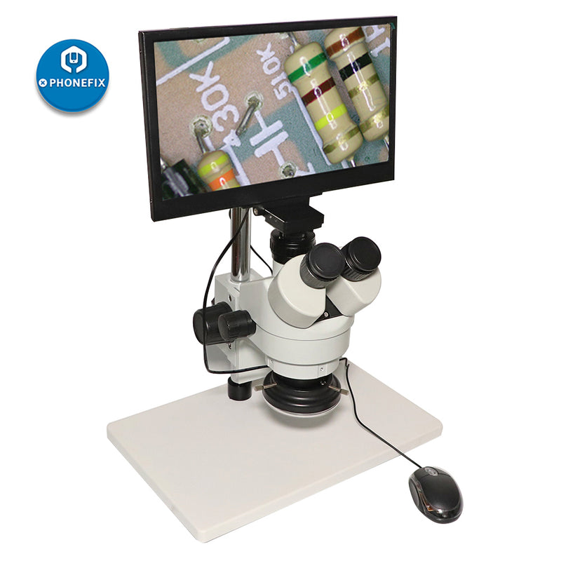 Integrated Trinocular Stereo White Microscope with LCD Display Screen