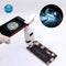 120X Pocket Phone Microscope Clip Magnifying Glass LED UV Light