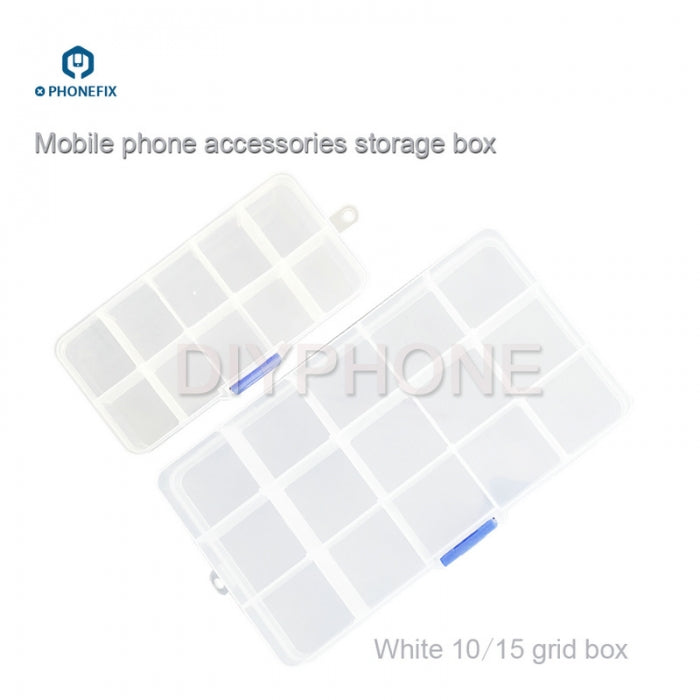 10 / 15 Grids Plastic Storage Box Container for Phone Repair Parts