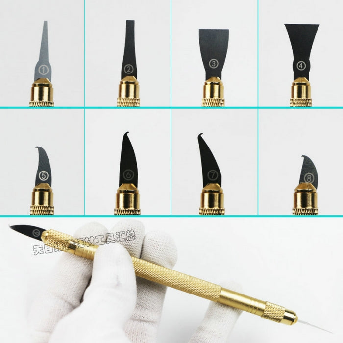 10 in 1 IC Chip Pry Remover Knife Blade Cleaning Graver for CPU Repair