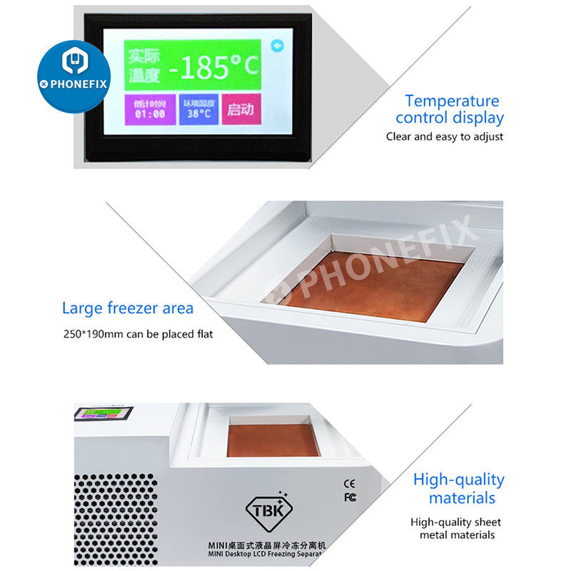 Original TBK-578 Mini Desktop LCD Laminating Frozen Separating Machine