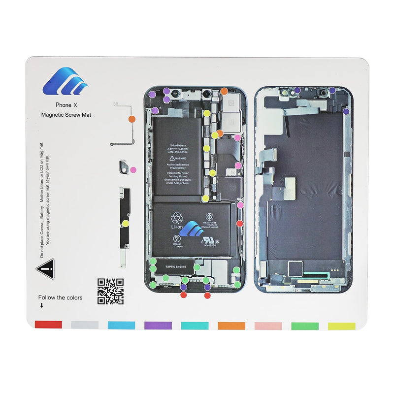 Magnetic Screw Mat for iPhone 5-XS MAX Teardown Repair Guide Pad