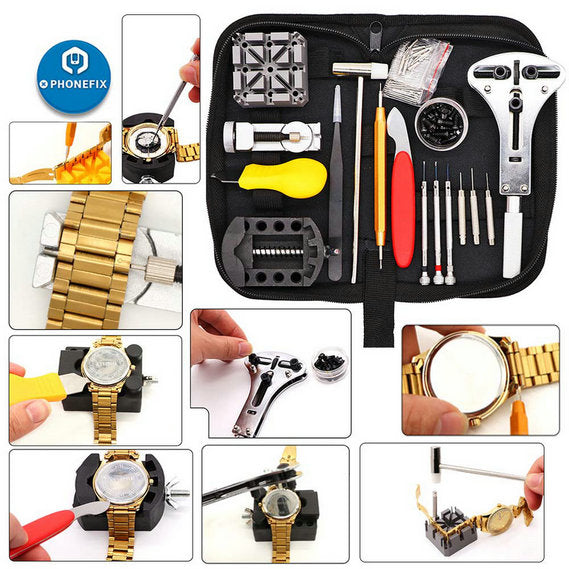 151pcs Watch Repair Tool Kit Watch Link Pin Remover Case Opener Tools