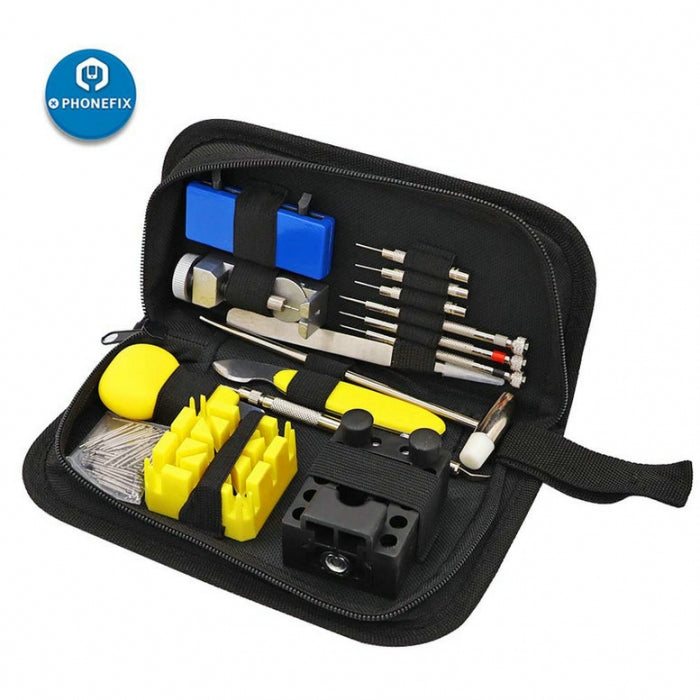 168pcs Watch Link Pin Remover Case Opener Repair Tool Kit for Watchmaker