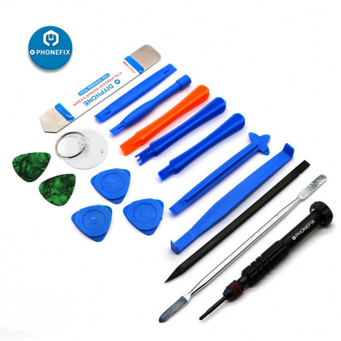 17 in 1 Cell Phone Repair Tool Kit Spudger Pry Disassembly Hand Tools