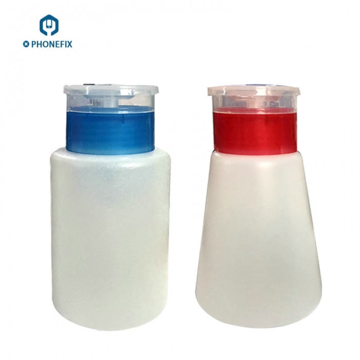 180ML Plastic Liquid Alcohol Bottle with Push Down Pump - 6Oz White