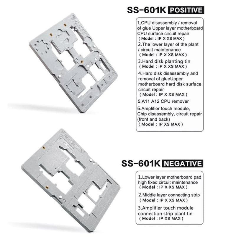 G-Lon SS-601K Iphone BGA Tinning Fixture Set for iPhone X/XS/XSMAX