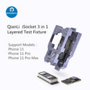 QianLi iSocket 3 in 1 Layer Board Test Fixture For iPhone 11 Pro Max