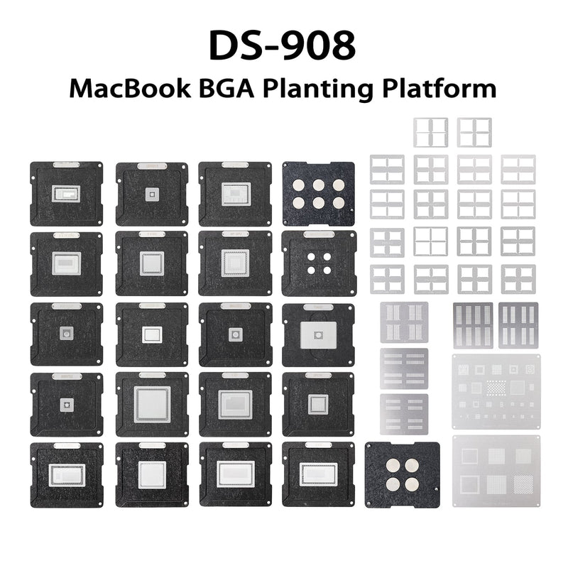 DS-908 Apple MacBook BGA Reballing Platform Soldering Tool Set