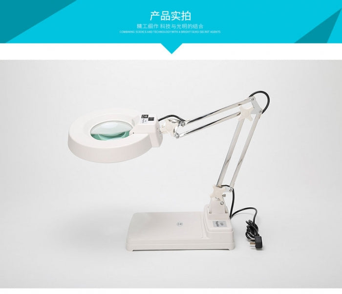 20 Times Desktop Magnifying Glass with LED Light and Bracket