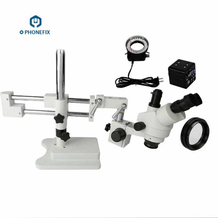 3.5X-90X HDMI Trinocular Microscope with HD Video Camera Adapter