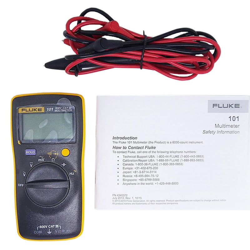 Fluke 101 Digital Multimeter Economy mV AC measurement tools