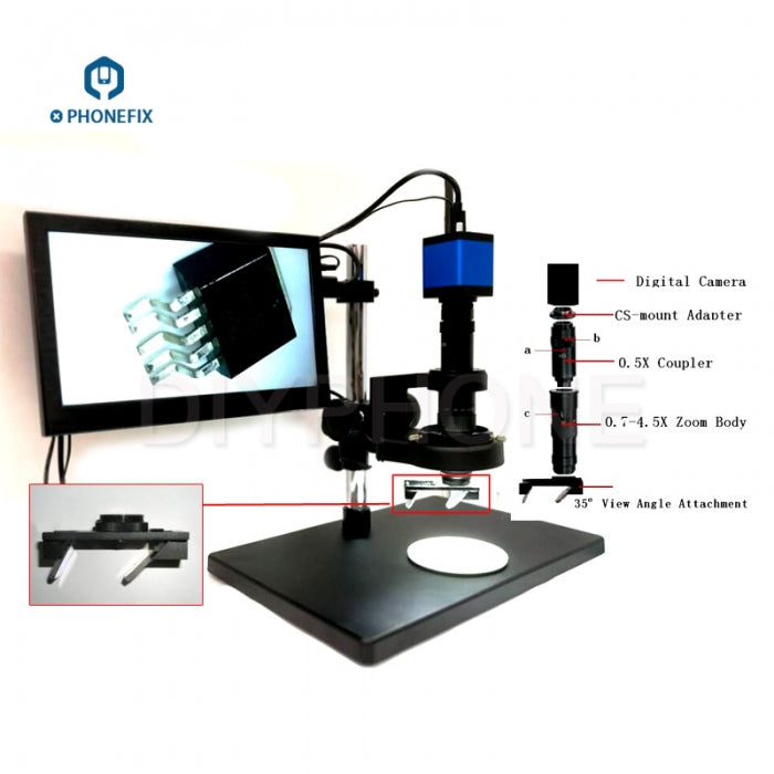 3D View angle Intelligent Digital Microscope with 21MP Video Camera
