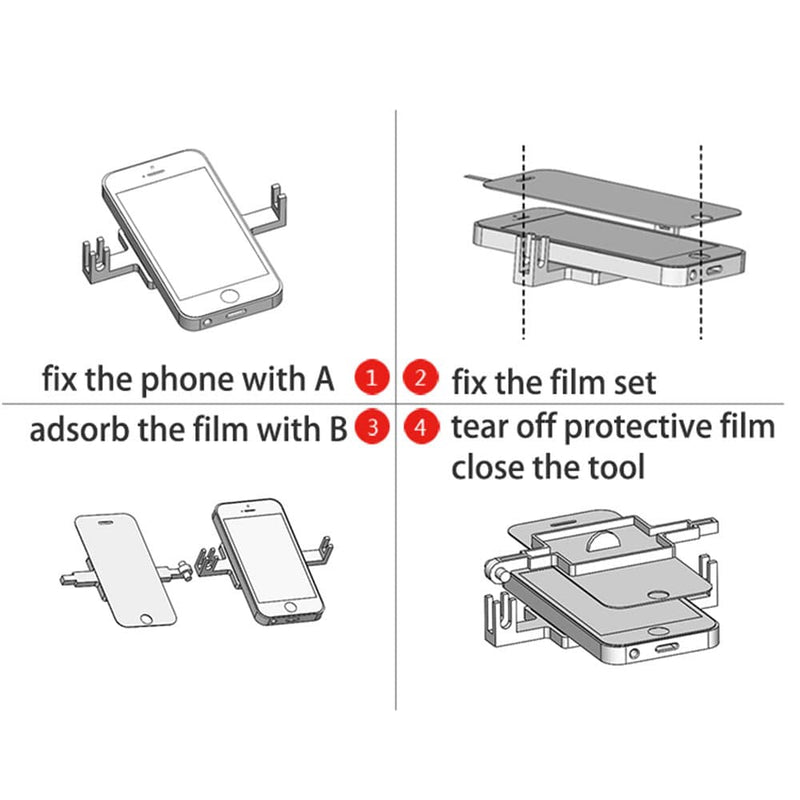 Phone Screen Protector Film Pasting Holder DIY Hand Tools