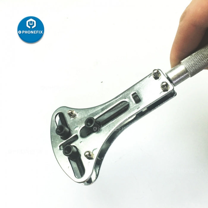Watch Repair Wrench 55mm Watch Back Case Opener with 18pcs Screws