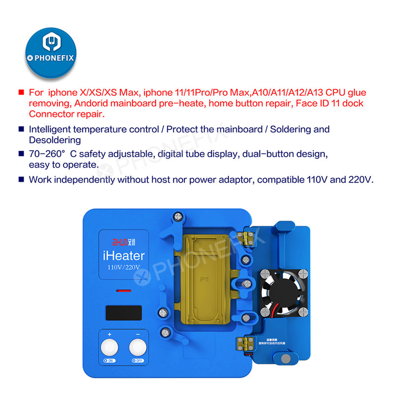 JC iHeater Intelligent Desoldering Station Thermostat Heating Plate