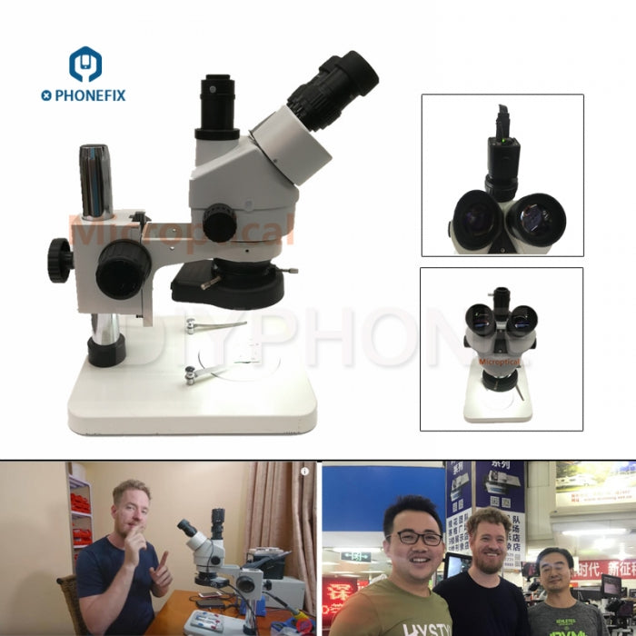 7-45x Trinocular Stereo Microscope with 1080P HDMI Digital Camera