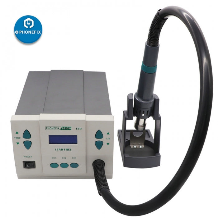 861DW 900W Hot Air Gun Digital Rework Station with 3 Nozzles