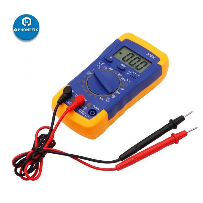 A830L Digital Multimeter AC DC OHM Volt Current Tester Mini Meter