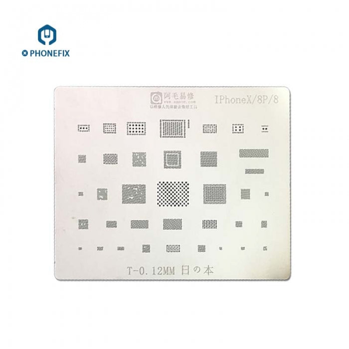 Amaoe CPU BGA Reballing Stencil Tin Plant Net For A11 iPhone 8 8P X