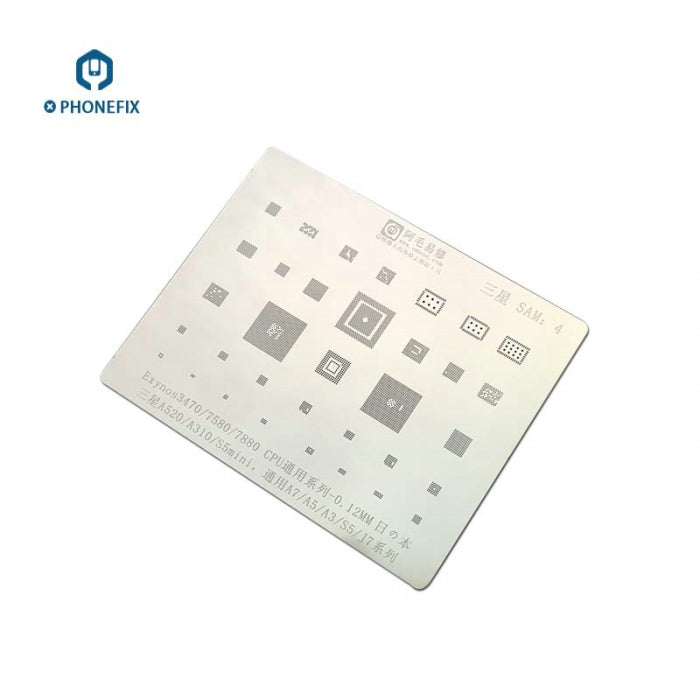 Amaoe CPU IC BGA Stencils Template For Samsung A5 A3 A7 J7 S5