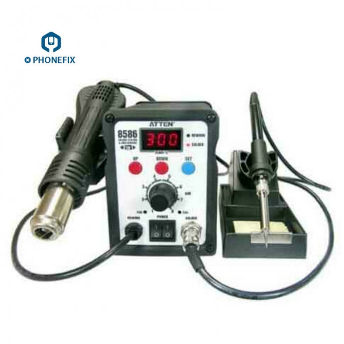 ATTEN AT8586 Hot Air Gun Soldering Rework Station SMD Welding Tool