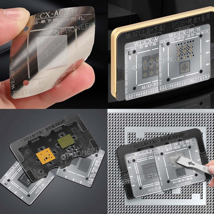 WL 2 IN 1 CPU NAND BGA Reballing Stencil Platform for iPhone 6-XS Max