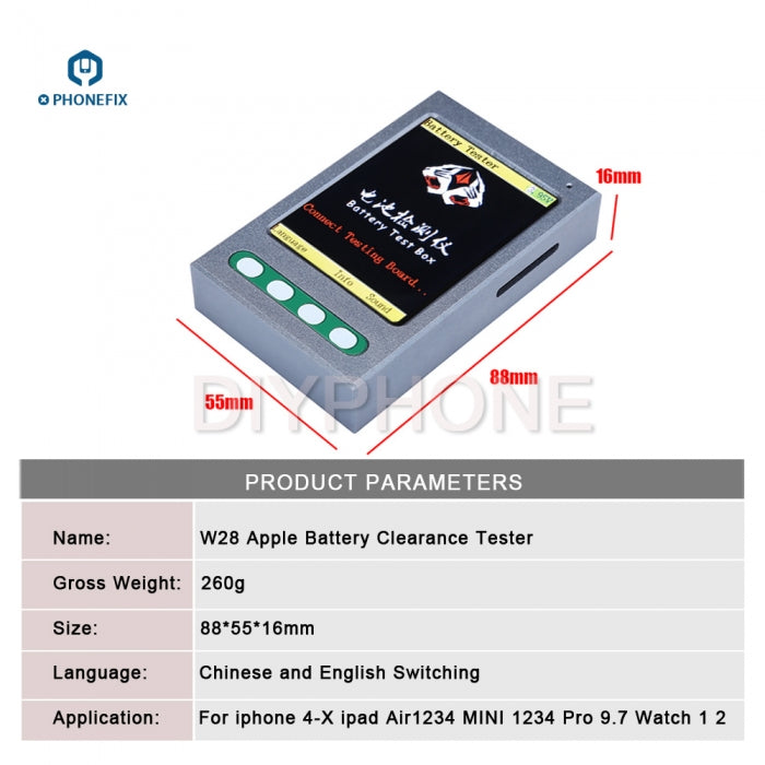 Apple Battery Capacity Tester Box for iPhone iPad Battery Diagnostic