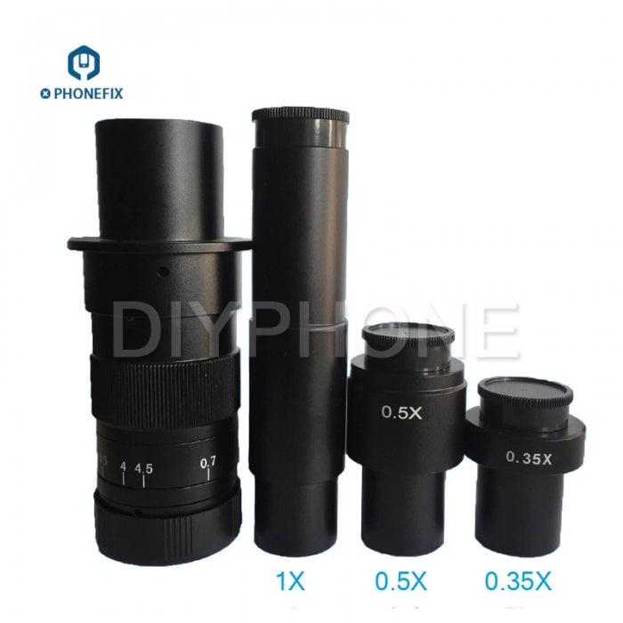 1.0X 0.5X 0.35X Zoom C-Mount Lens Adapter for Microscope Camera