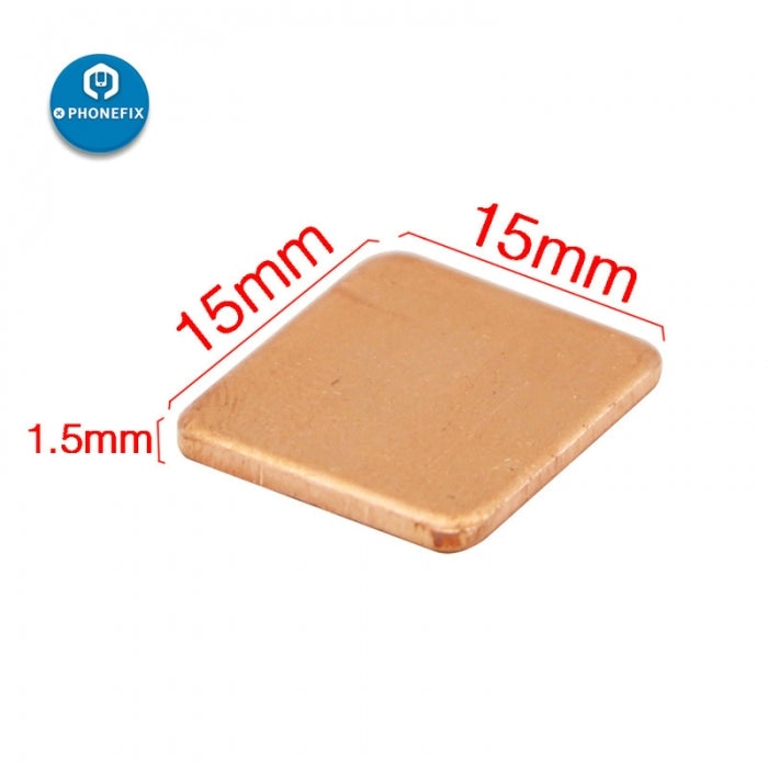 Copper Slice Radiator for Phone CPU Chip Cooling - 3Pcs /set