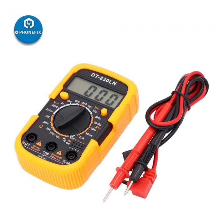 DT-830LN Digital Multimeter LCD Backlight Display Voltage Meter