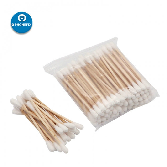 80Pcs/ Pack Double Head Cotton Swabs Buds Cleaning Tools