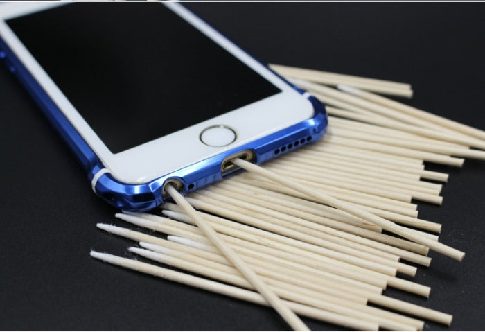 Dustless Wood Cotton Swab Clean Sticks for Cleaning Small Gap in Phone