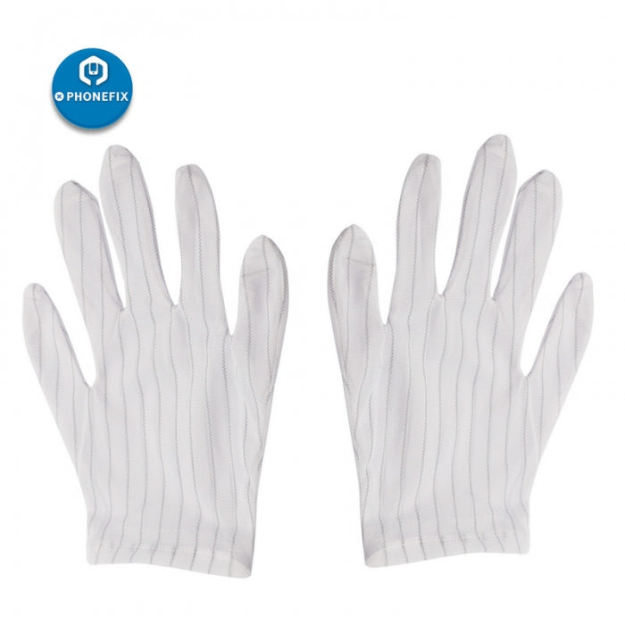 1 Pair ESD Gloves Anti-skid Electronic Working Gloves For PC Computer