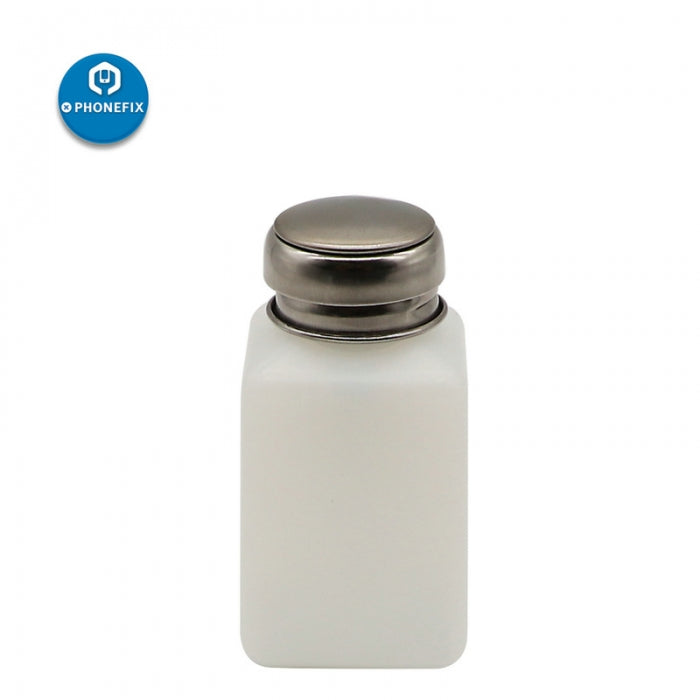 Empty Alcohol Bottle with Stainless Steel Cap for Phone Cleaning Tool