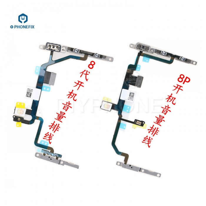 Volume Button Switch On/Off Key Power Flex Cable For iPhone 8/8P X