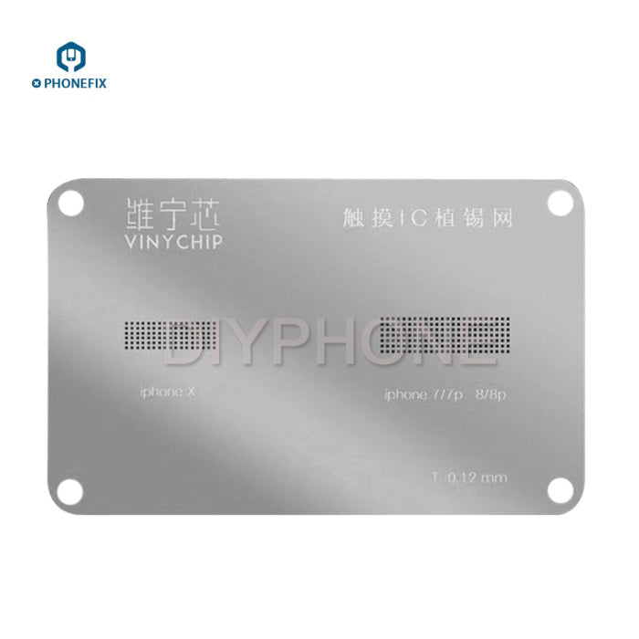 0.12mm 2 IN 1 Screen Touch IC BGA Reballing Stencils For iPhone 7 8 X