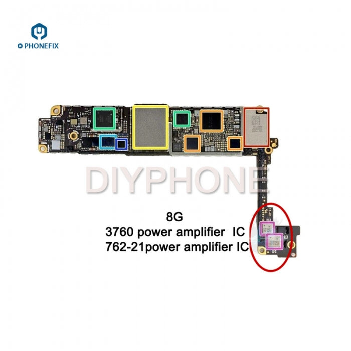 762-21 4G Signal Module Power Amplifier IC 3760 PA Chip For iPhone 8P