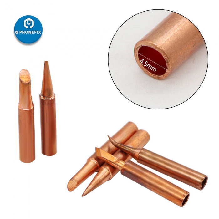 Pure-Copper 900M-T Soldering Iron Tips For Soldering Rework Station