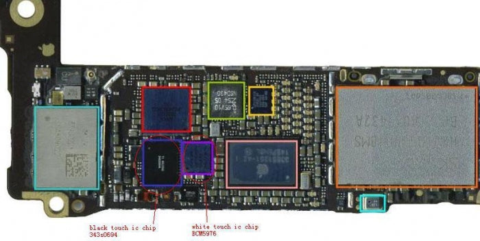 Touch Controller Driver IC 343S0694 U2402 Touch IC For iPhone 6 6P