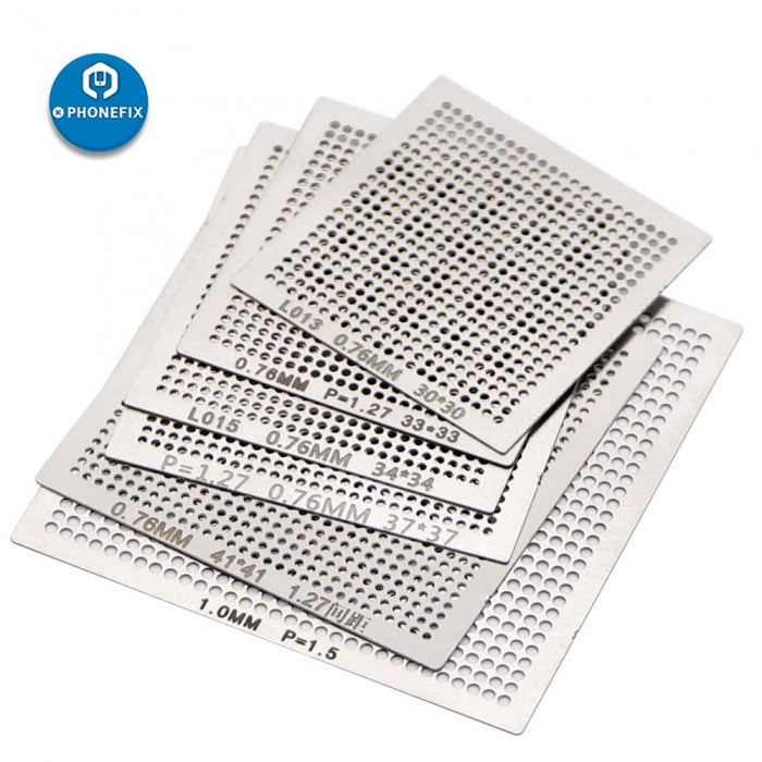 18pcs Cell Phone Directly Heat Template BGA Soldering Stencils Kit