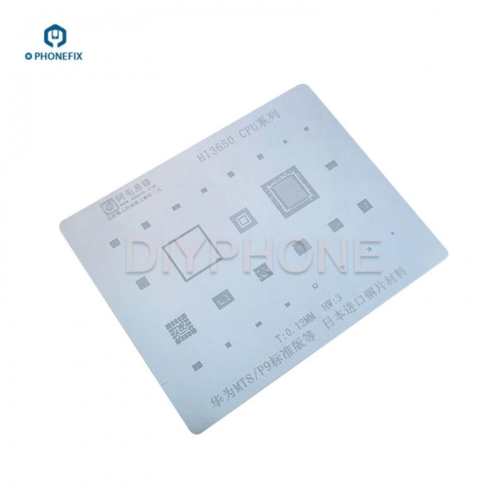 Amaoe CPU Series BGA Reballing Stencils Net Kit For Huawei MT8 P9