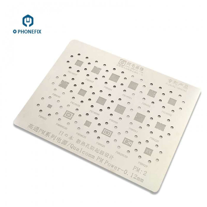 Qualcomm PM8991 Power IC 0.12mm BGA Reballing Stencil Template